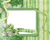 Frame Flower Green Strips Image